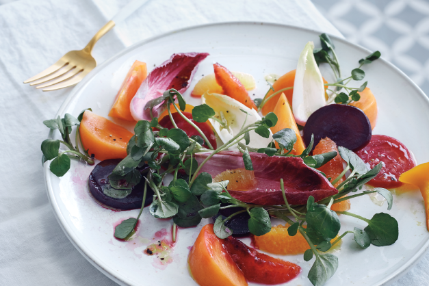 Persimmon, Beet, and Citrus Salad - Simmis™ Fuyu Persimmons Recipe