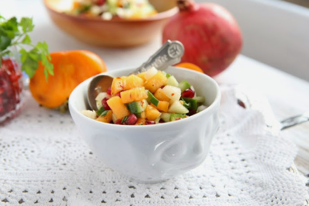 Persimmon Pomegranate Salsa - Simmis™ Fuyu Persimmons Recipe